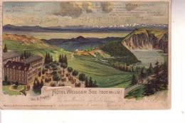 Cartolina A Colori HOTEL WEISSER URBEIS (Germania) Viaggiata  2/8/1904 - Elsass