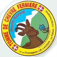 Etiquette. Ref. 050. TOME DE CHEVRE FERMIERE - Fromagerie J.M. LACROIX - DOMANCY - Fromage
