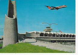 Exterior View Of Airport, Plane, Vancouver International Airport, Vancouver, British Columbia, Canada, 50-70´s - Vancouver