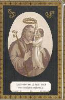 ( 30 ) °DRONGEN 1858 + 1884:  PETRUS SCHELSTRAETE (ST.JOZEF)  GOUDOPDRUK!!! - Images Religieuses