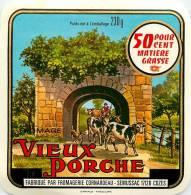 Etiquette. Ref. 093. VIEUX PORCHE - Fabriqué Par Fromagerie Cornardeau - SEMUSSAC - COZES - Fromage