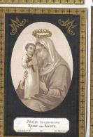 ( 31 ) °DRONGEN 1858 + 1884:  PETRUS SCHELSTRAETE (REINE DES ANGES)  GOUDOPDRUK!!! - Images Religieuses
