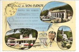09 - AX-LES-THERMES - Télégramme Du BON CURISTE : Le Couloubret, Le Casino, Eglise Saint-Vincent - Ed. APA-Poux N° 5 - Ax Les Thermes