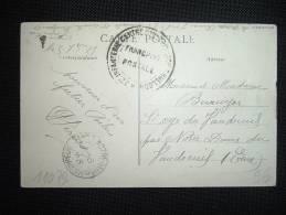 CP DATEE 5-9-15 + CACHET REGIMENTAIRE D'HUELGOAT (29 FINISTERE) + VUE HUELGOAT - Guerre De 1914-18