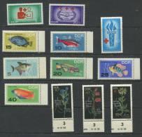 Germany 1966 Accumulation Mi 1207-9,1221-6,1242-4 MNH Red Cross, Tropical Fish,Flowers - [6] Democratic Republic