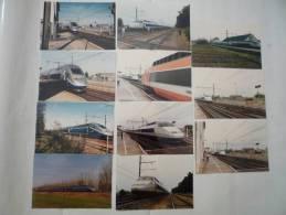 GENLIS (21) TGV FRANCE - TGV A Et TGV A 2N Essais Du 7 Juillet 1988 Et 28 Février 1997 Lot De 11 CPM - Trains