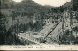 REFRAIN (25) - Usine Electrique à L Frontière Franco-Suisse - Cachet Convoyeur-ligne Besnçon à Belfort - France