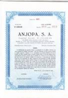 O) 1965 MEXICO, TEN STOCKS, ANJOPA S.A. - Actions & Titres