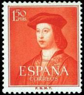España 1952 Edifil 1109 Sello ** V Centenario Del Nacimiento De Fernando El Católico (1452-1516) 1,50c Spain Stamps - 1931-Aujourd'hui: II. République - ....Juan Carlos I