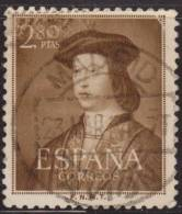 España 1952 Edifil 1110 Sello º V Centenario Del Nacimiento De Fernando El Católico (1452-1516) 2,80c Spain Stamps - 1931-Hoy: 2ª República - ... Juan Carlos I