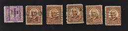 B426 USA 1930-31 (6 Stamps ) ( Sc# 684,701 ) CH - United States