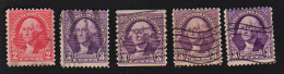 B422 USA 1931-32 ( 5 Stamps ) ( Sc# 707,720 ) CH - United States