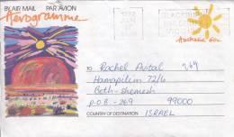 Card Sent To Israel  On The 90th - 1990-99 Elizabeth II