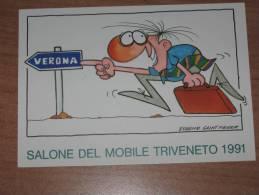 VERONA 14.09.1991 SALONE DEL MOBILE TRIVENETO 1991 - VERONA FIERE  TIMBRO SPECIALE  - QUI ENTRATE!!! - Verona