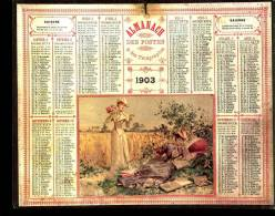 Calendrier 1903 - Grand Format : 1901-20