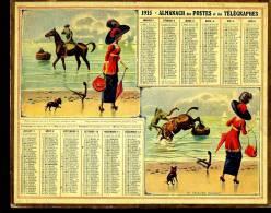 Calendrier 1915 Le Cavalier Distrait.2 Feuillets Volants Au Dos - Calendars