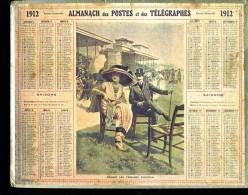 Calendrier 1912 Hippisme : Devant Les Tribunes D'Auteuil. Course Chevaux - Calendarios