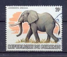 Burundi 1982, Elephant Minr 1587 Vfu, Loxodonta Africana. Cv 25 Euro !! - Burundi