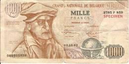 POLITIQUE-BILLET DE 1000 Francs-caricature Théo Lefevre-PROPAGANDE PRL OMER VANAUDENHOVE-élection - [ 8] Fakes & Specimens