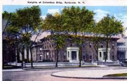 ETATS UNIS NEW YORK SYRACUSE KNIGHTS OT COLUMBUS BIDG - Syracuse