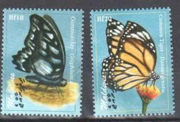 Maldives 2009  Butterfly Mariposa Papillon Borboletas - 2v -MNH - Butterflies