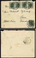 A1411) Austria Österreich Kleiner Brief Von Wien 13.5.1907 M. MeF Nach Bern / Schweiz - 1850-1918 Imperium