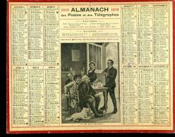 Calendrier 1919 Un Fait Divers Intéressant - Calendarios