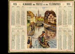 Calendrier 1925 Bas Rhin, Un Coin Du Vieux Srasbourg - Calendars