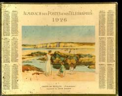 Calendrier 1926 Grève De Kerlor Finistère, Aquarelle De Léon Roger. - Big : 1921-40