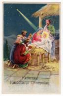 CHRISTMAS COMET THE FALLING STAR BABY JESUS THREE KINGS OLD POSTCARD - Christmas