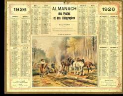 Calendrier 1926 Le Café Des Bûcherons. - Calendriers