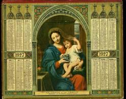 Calendrier 1927 La Vierge à La Grappe.double Cartonnage. - Calendriers