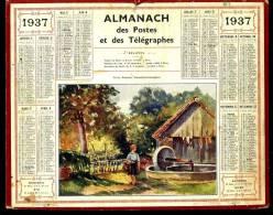 Calendrier 1937 Vieux Pressoir, Passais La Conception. - Big : 1921-40