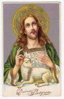 CHRISTIANITY SAINTS JESUS WITH A SHEEP OLD POSTCARD - Saints