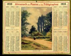 Calendrier 1935 Route Dans La Sarthe. - Calendriers