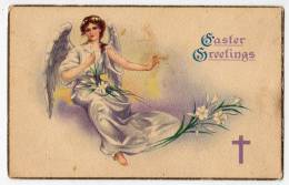 CHRISTIANITY SAINTS ANGEL AND FLOWERS SERIE 1110 OLD POSTCARD - Saints