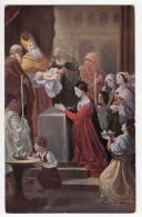CHRISTIANITY SAINTS CHRISTENING OLD POSTCARD - Saints