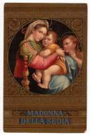 CHRISTIANITY SAINTS MADONNA OF THE CHAIR OLD POSTCARD - Saints