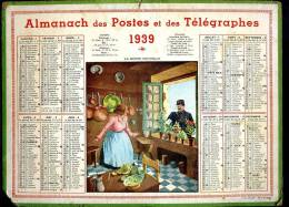 Calendrier 1939 La Bonne Nouvelle, Facteur. - Calendars