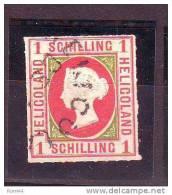 APL°°°   HELIGOLAND  N° 2  Réimpression  Oblitéré - Heligoland (1867-1890)