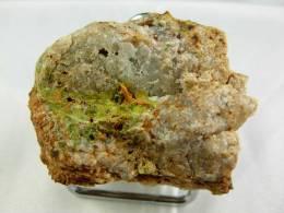 PYROMORPHITE ET CROCOITE 4,5 X 3,5 CM NONTRON - Minerals