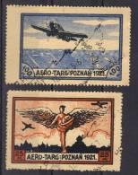 Pologne Vignettes Aero-Ta&rg Poznan 1921 - Variedades & Curiosidades