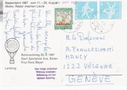 Switzerland 1967, Ballonpostkarte - Storia Postale