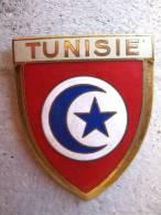 ANCIENNE PLAQUE DE SCOOTER EMAILLEE ANNEE 1950 TUNISIE EXCELLENT ETAT AUCUNS ECLATS DRAGO PARIS