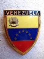 ANCIENNE PLAQUE DE SCOOTER EMAILLEE ANNEE 1950 VENEZUELA EXCELLENT ETAT AUCUNS ECLATS DRAGO PARIS - Plaques Publicitaires