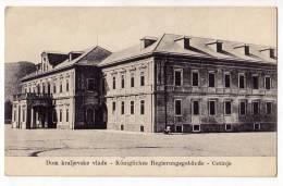 EUROPE MONTENEGRO CETINJE HOUSE OF ROYAL GOVERNMENT OLD POSTCARD - Montenegro