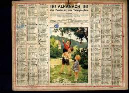 Calendrier 1942 Oh Les Belles Cerises. - Big : 1941-60