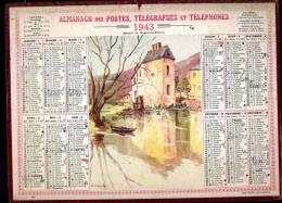 Calendrier 1943 Moulin De Nogent Le Rotrou. - Big : 1941-60