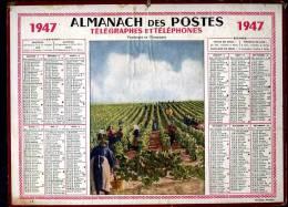 Calendrier 1947 VENDANGES En Champagne. - Big : 1941-60