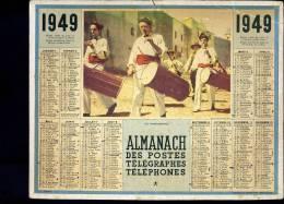 Calendrier  1949 Les Tambourinaires. - Grand Format : 1941-60